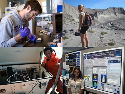 WSGC student researchers (photos submitted by participants).